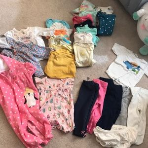 29 piece 3-6 month baby girls onesie and more set